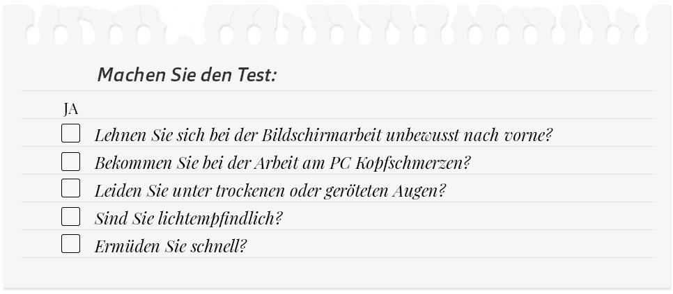 AO LP-Bildschirmplatz-Brillen-test