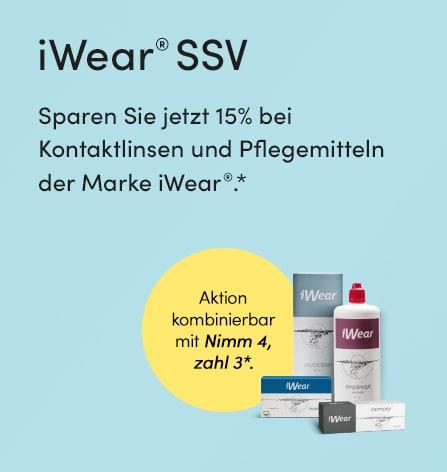 iWear Sale - 15 Prozent sparen