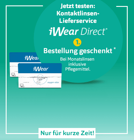 iWear® Direct Kontaklinsen-Lieferservice Aktion