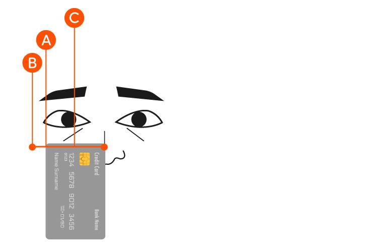 Brillengroesse Checkkarte Augen-messen
