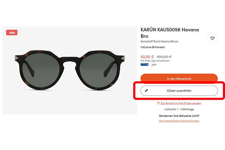Sonnenbrille-verglast