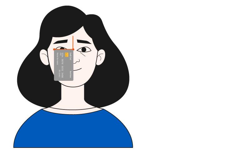 Brillengroesse Checkkarte Gesicht Illustration
