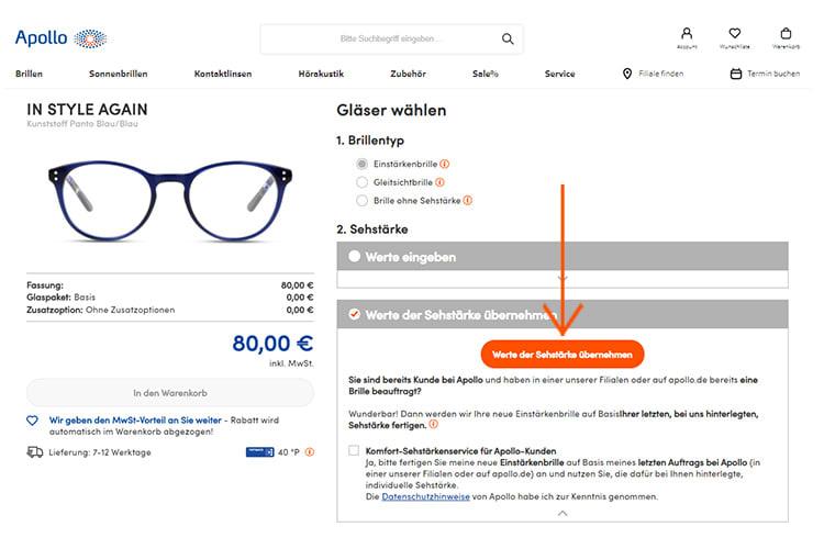 Brille Online Kaufen Schnell Einfach Und Ohne Risiko Apollo