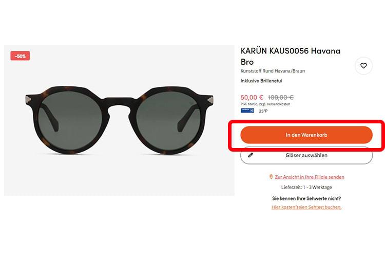 Sonnenbrille-Handelsware
