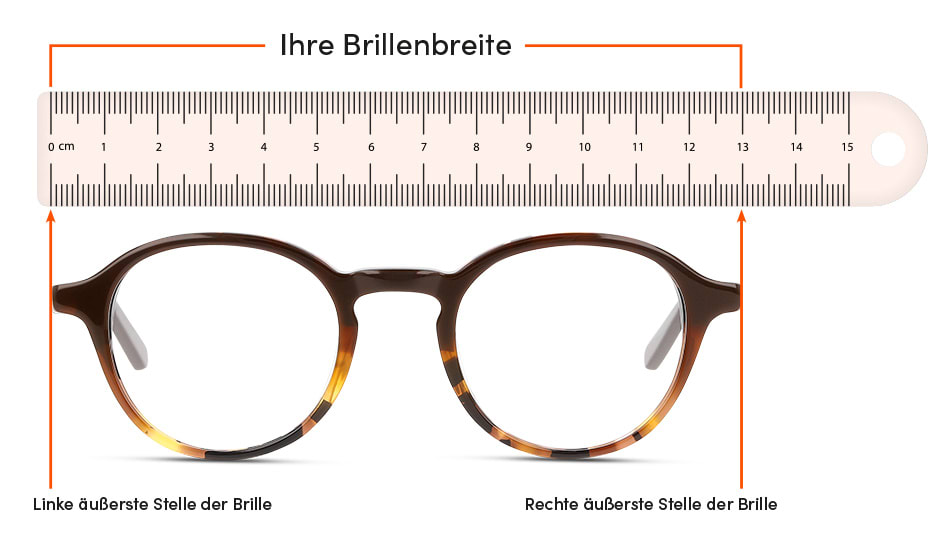 Brillengroesse Ermitteln Brille-Frontansicht