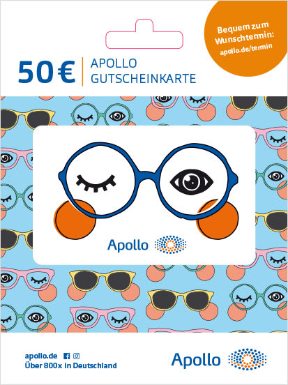 Apollo Gutscheinkarte Bunt mit Brille