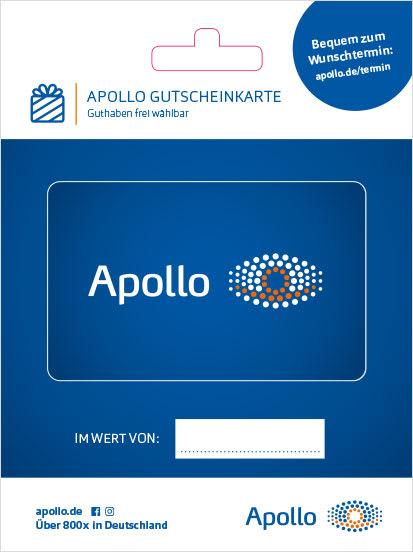 Apollo Gutscheinkarte Blau