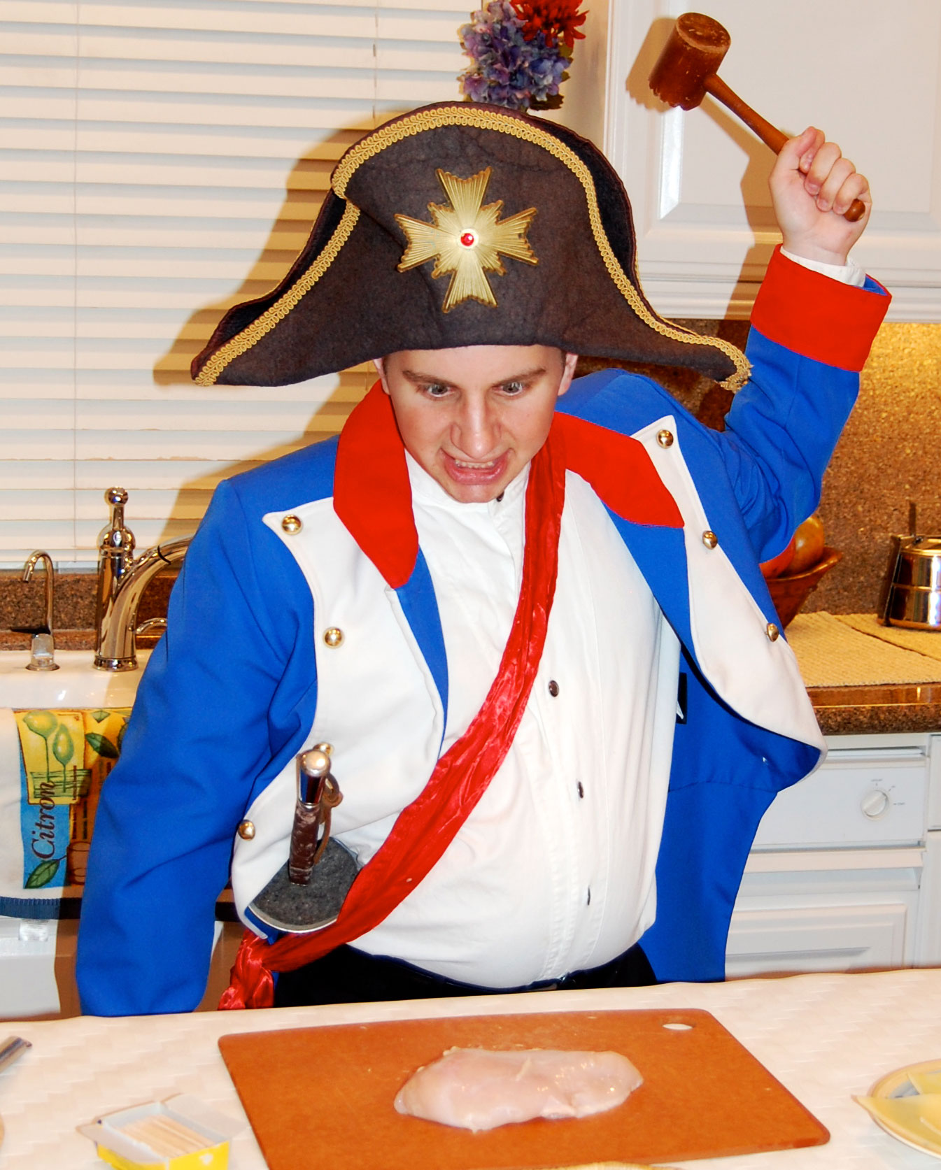 As Napoleon in Napoleon Bon Appetit