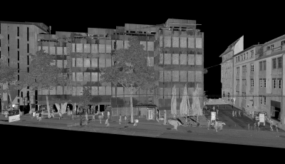 3D Laserscanning: Fassadenansichten & Grundrisse 3D Model