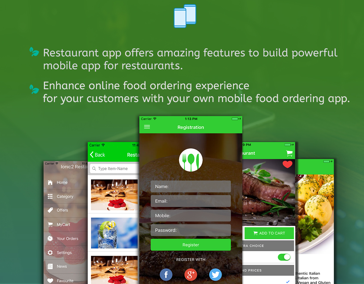 Ionic 3 Restaurant app with Firebase - 4