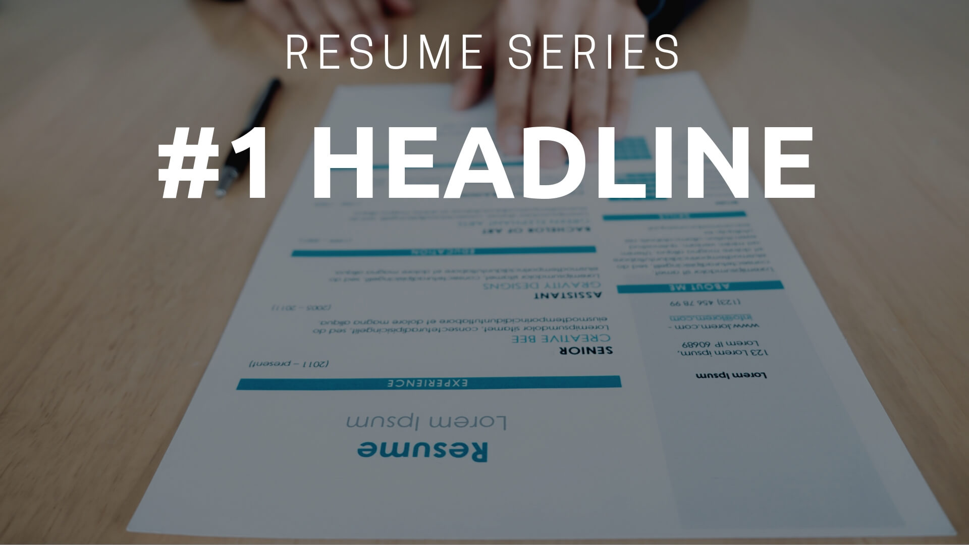 5 quick tips to craft a powerful resume headline