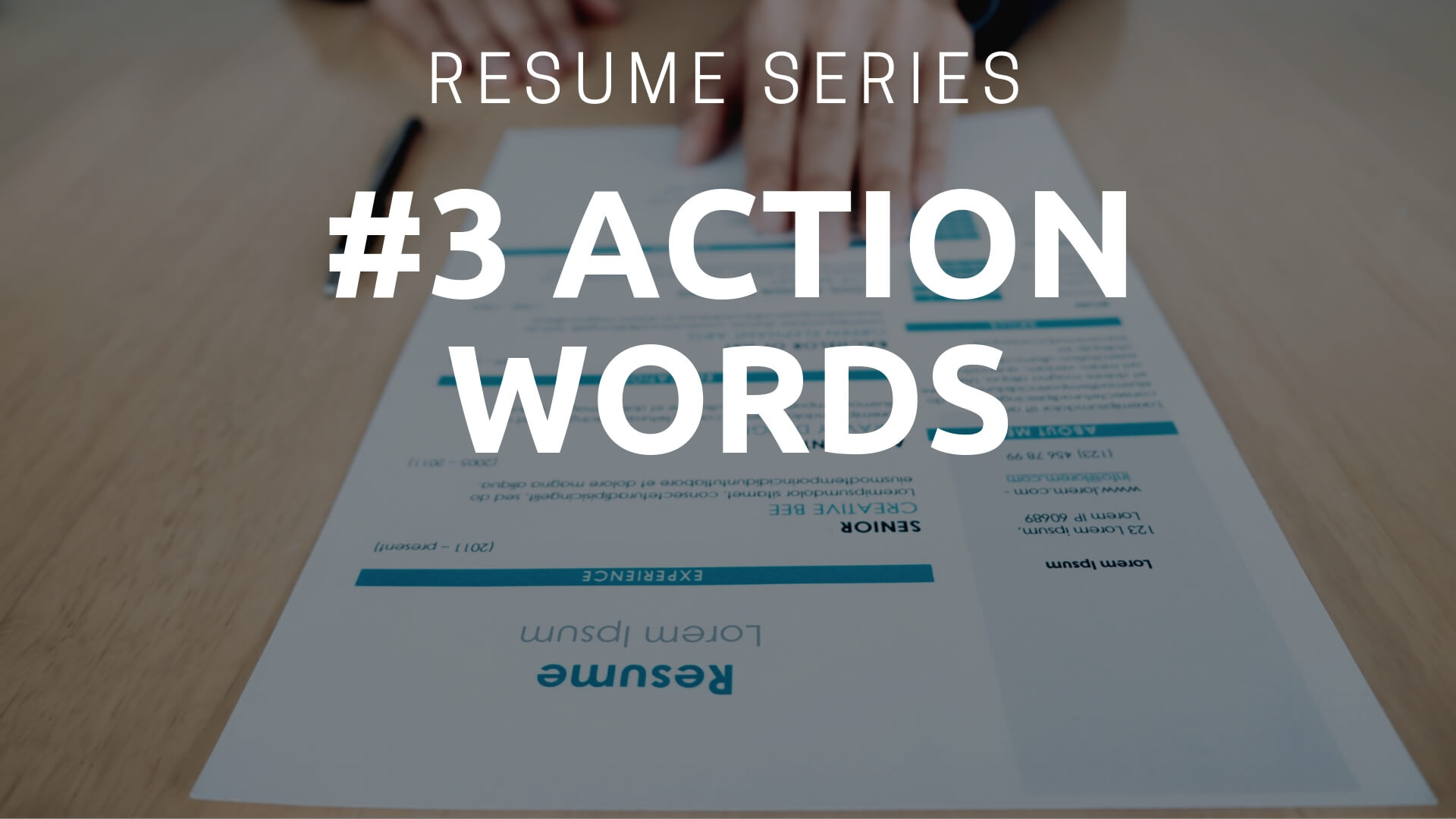 boost your resume with strong action words