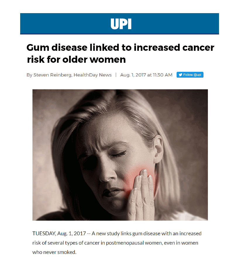 Gum Disease Cancer Risk in Women
