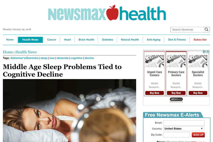 Sleep Issues in Middle Age – Cognitive Decline Later On?