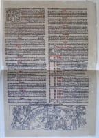 Reprodukce listu z kalendáře z roku 1492