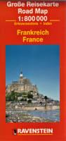 Große Reisekarte / RoadMap 1:800 000 Frankreich / France