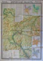 Zeměpisná učební mapa Kirovské oblasti 1 : 600 000