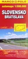 BRATISLAVA SLOVENSKO 1:20 000, 1:500 000