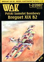 Polski Samolot Bombowy Breguet XIX B2 (model kartonowy)