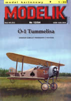 Ö-1 Tummelisa Szwedzki samolot treningowy z 1919 roku (model kartonowy)