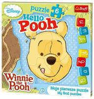 Puzzle 6ks Medvídek Pú