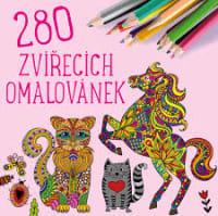 280 zvířecích omalovánek