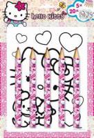 Omalovánka s maxi pastelkami Hello Kitty