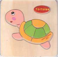 Puzzle dřevěné - želva