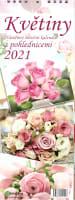 Květiny pohlednicový kalendář 2021