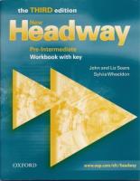 New Headway Pre-Intermediate Third Edition Workbook with key
