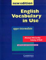 English Vocabulary in Use Upper - intermediate