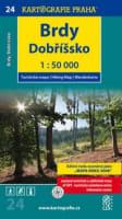 (24) - Brdy, Dobříšsko (turistická mapa)