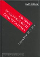 Kronika komunistického Československa  Doba tání