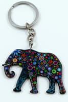 Plast slon hippies modrý