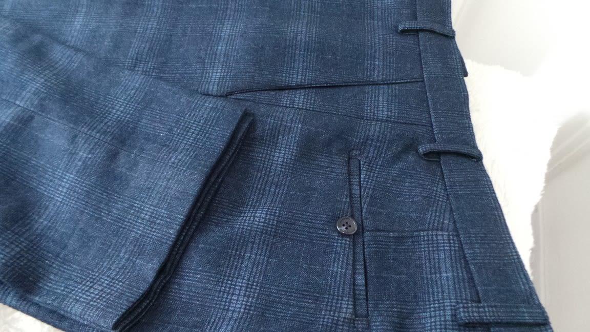 Blue Check Men's Trousers