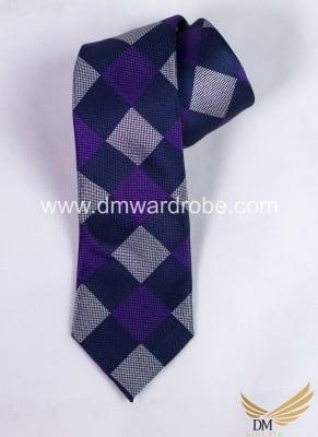 Blue Grey Tie