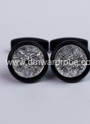 Silver Black Cufflinks