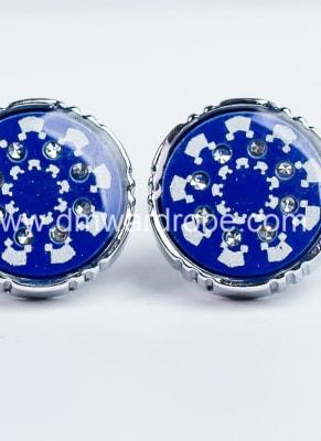 Blue Silver Cufflinks