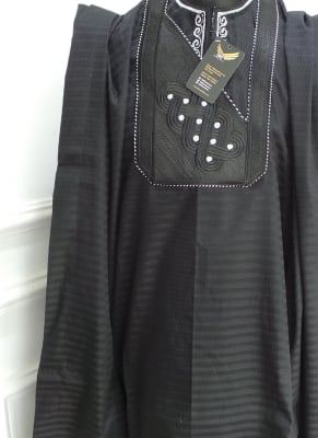 Black Agbada Traditional Wear