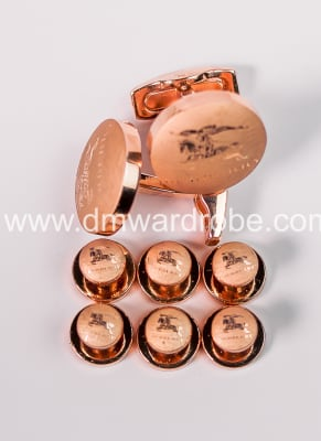 Burberry Gold Cufflinks And Studs