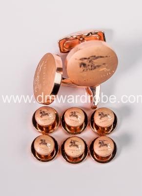 Burberry Gold Cufflinks And Studs