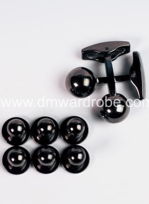 Black Cufflinks and Studs