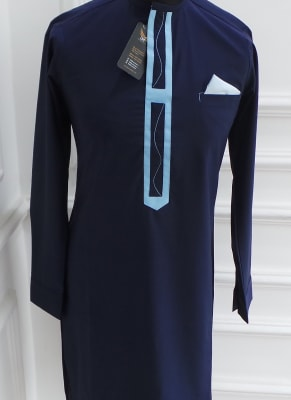 Navy Blue Traditional Wear