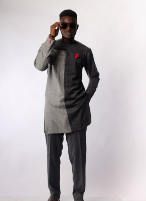 Double shades two-piece Atiku men's wear