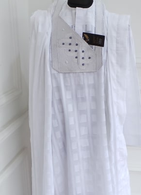 White Agbada traditional attire