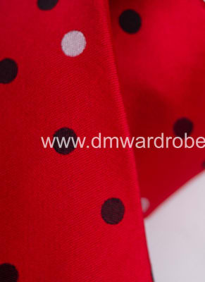 Red Blue & White Polka Dot Tie