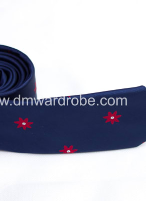 Blue Red Polka Star Tie