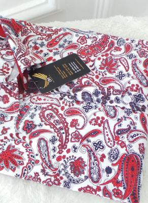 Blood Red Paisley shirt