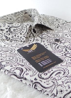 White paisley shirt