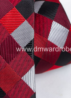 Red Black & Grey Tie